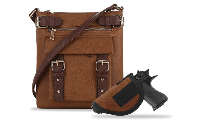 Jessie & James 2 Toned Belt Concealed Carry Crossbody Bag